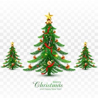 Dekorativer weihnachtsbaumgrußkartenhintergrund des feiertags