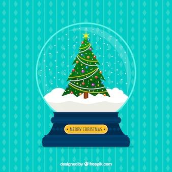 Dekorativer weihnachtsschneeball