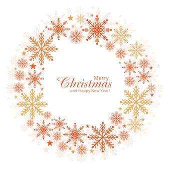 Dekorativer weihnachtsschneeflocken-kartenhintergrund