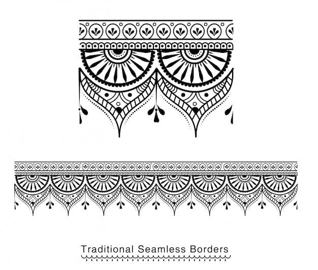 Dekoratives bordürenmuster mit hohen details