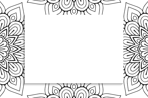 Dekoratives dekoratives mandalamuster mit copyspace.