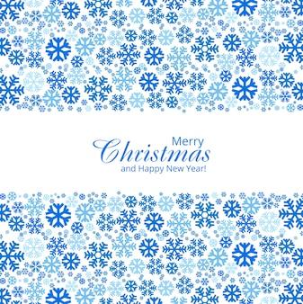 Dekoratives design der weihnachtsschneeflocken