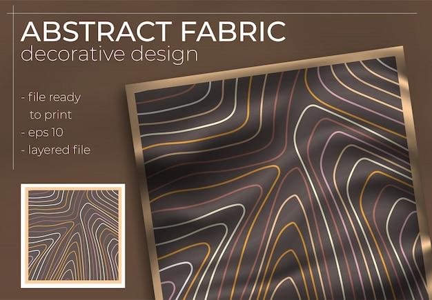 Dekoratives design des abstrakten gewebes