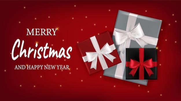 Dekoratives design für frohe weihnachten und ein gutes neues jahr