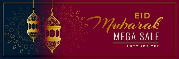 Dekoratives eid mubarak-verkaufsfahnendesign