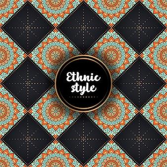 Dekoratives ethnisches luxusmuster