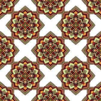 Dekoratives ethnisches muster des nahtlosen vektors mit geometrischen verzierungen. hintergrund zum bedrucken von papier, tapeten, abdeckungen, textilien, stoffen, für dekoration, decoupage, scrapbooking und andere
