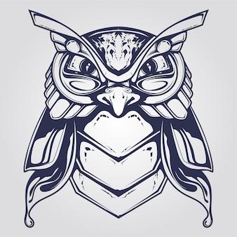Dekoratives eulen-tatto