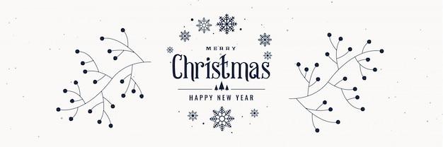 Dekoratives fahnendesign der frohen weihnachten und des neuen jahres
