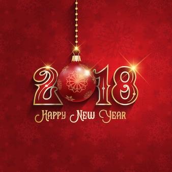 Dekoratives frohes neues Jahr-Hintergrund