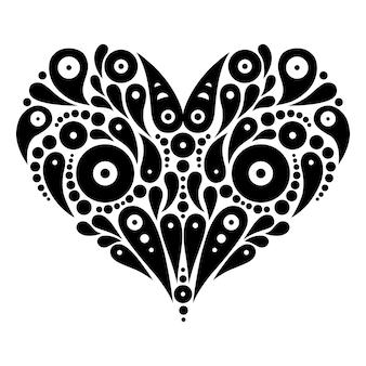 Dekoratives herz tattoo