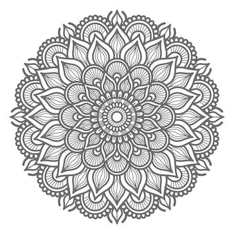 Dekoratives konzept der hand gezeichneten mandalaillustration