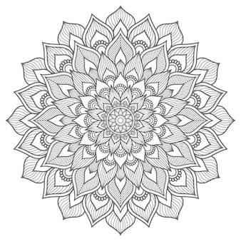 Dekoratives konzept gliederungsstil mandala