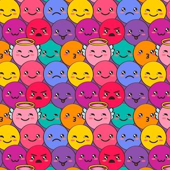 Dekoratives lächeln emoticons muster