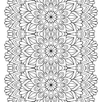Dekoratives luxus-mandala-design