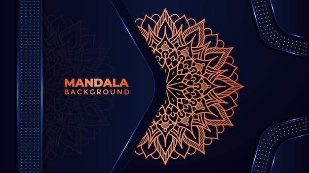 Dekoratives luxus-mandala-hintergrund-design im islamischen stil