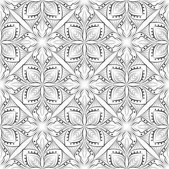 Dekoratives mandala-entwurfsmuster