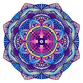 Dekoratives mandala mit einem alles sehenden auge in dunklen farben