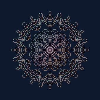 Dekoratives mandala mit farbverlauf