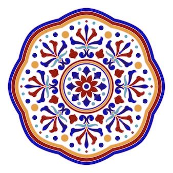Dekoratives mandalaisolat auf weißem hintergrund