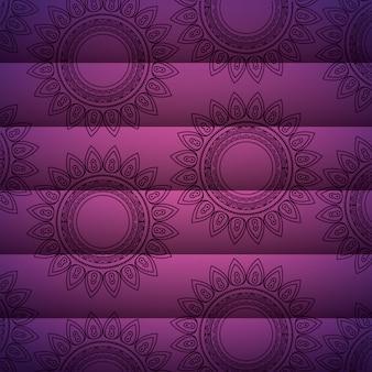 Dekoratives motiv des mandalahintergrundes mit blumen