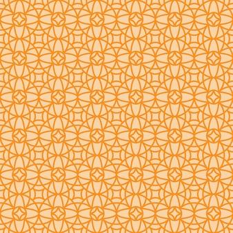 Dekoratives muster der linearen arabischen art der orange weinlese