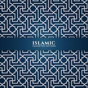 Dekoratives nahtloses muster der verzierung des arabischen islamischen stils
