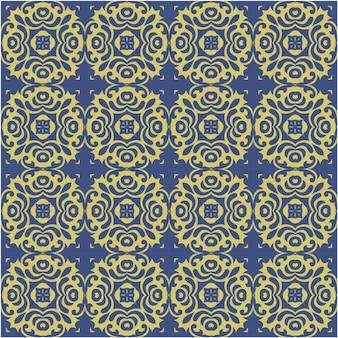 Dekoratives nahtloses muster mit abstraktem und batikstil