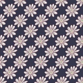 Dekoratives nahtloses muster mit einfachen gänseblümchenblumen