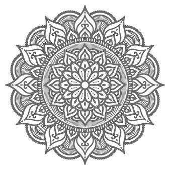 Dekoratives rundes kreismandalaillustrationskonzept
