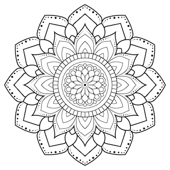 Dekoratives rundes ornamentumriss-mandala.