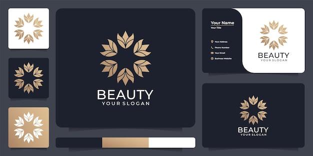 Dekoratives schönheitsblumenlogo-design
