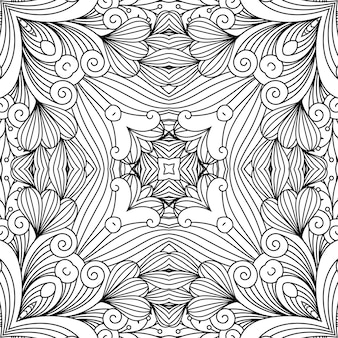 Dekoratives zen-strudelmuster