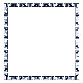Dekorrahmen für design im griechischen stil