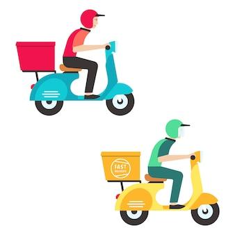 Delivery man design illustrationen