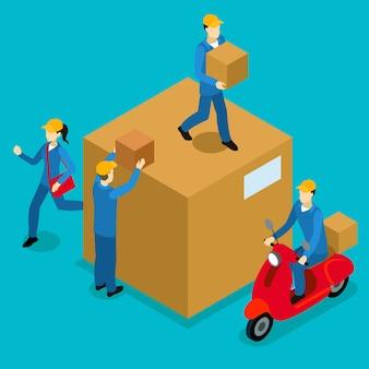Delivery men isometrische zusammensetzung