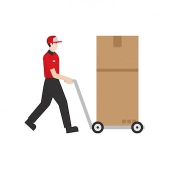 Deliveryman mit einem paket