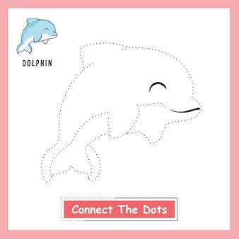 Delphin verbinden die punkte