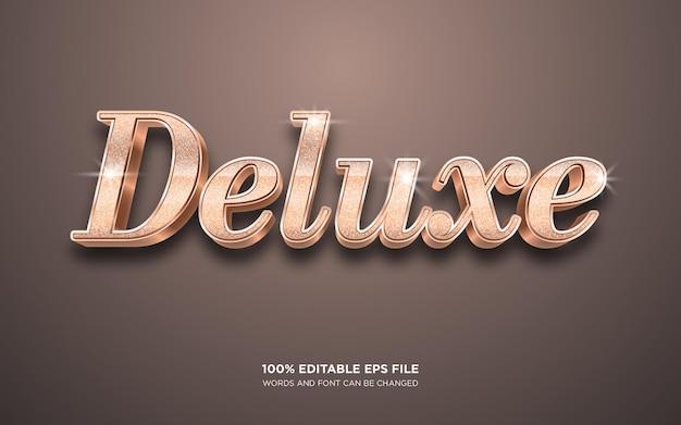 Deluxe 3d bearbeitbarer textstileffekt