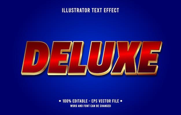 Deluxe bearbeitbarer texteffekt im modernen verlaufsstil