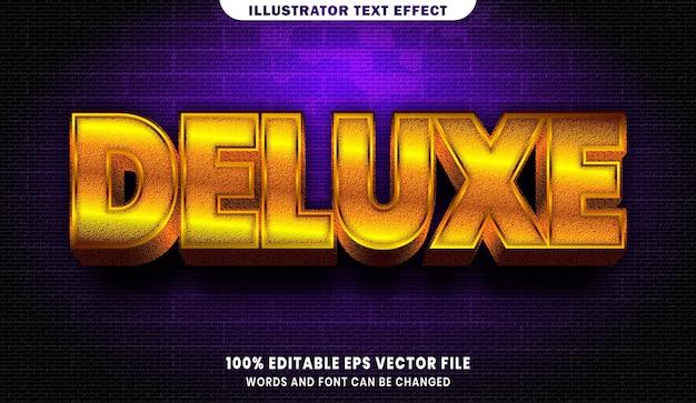 Deluxe-text, bearbeitbarer texteffekt im goldstil