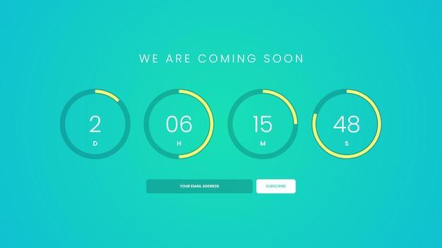 Demnächst countdown-timer für die website
