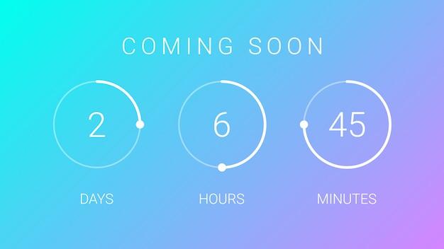 Demnächst countdown-timer