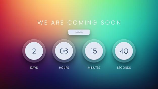 Demnächst countdown-website-timer