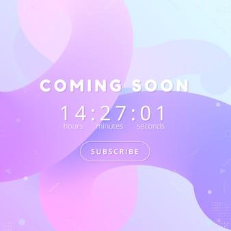 Demnächst hintergrund. countdown website vorlage.