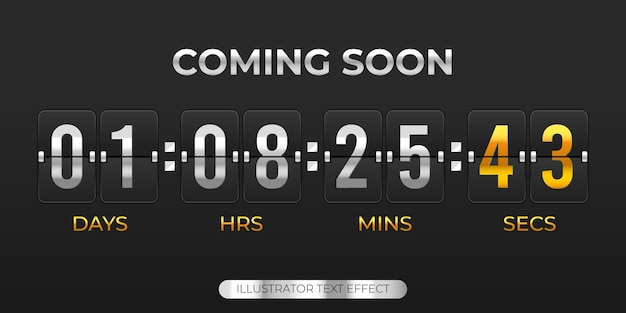 Demnächst illustrations-countdown-timer-vorlage