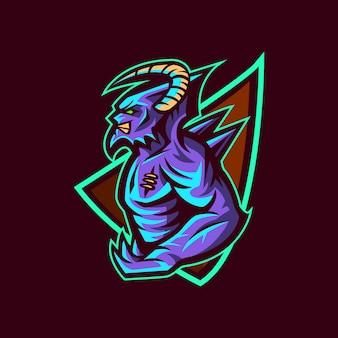 Demon devil sport logo illustration
