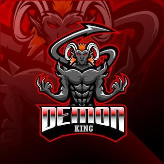 Demon king esport maskottchen logo