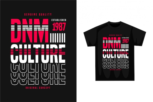Denim culture - grafisches t-shirt