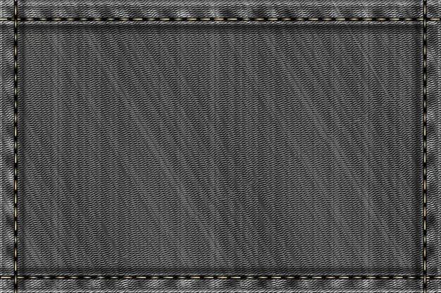 Denim rechteckigen hintergrund. graue raue textur.